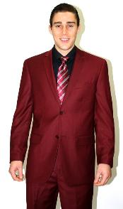 ID#MMQ253 2 piece affordable suit online Reduced Price - Wedding Burgundy Prom ~ Maroon Wedding Prom ~ Wine Color