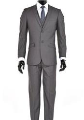 ID#DB18208 2 Button Dark Charcoal Inexpensive ~ Cheap ~ Discounted Clearance Sale Extra Slim Fit Prom 2 Button Suit