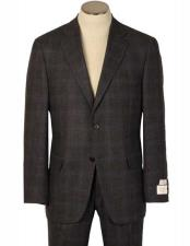 Fit Charcoal Windowpane Made