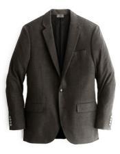 ID#DB18003 Alberto Nardoni  2 Button Dark Charcoal Cashmere & Wool Blazer