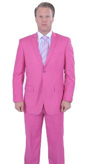 Two Button Fuchsia Color Suit