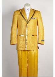 ID#NM235 Mens 2 Button Gold Suit