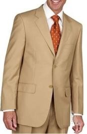 ID#JL1883 Two Button Suit - Gold ~ Camel ~ Bronze ~ Birtish Khaki