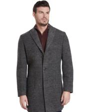 Button Gray Car coat