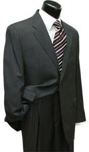 Two Button Gray Wool Suit