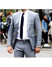 Lapel Grey 2 Button