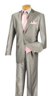 2 Button Grey/Pink Two