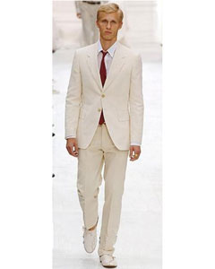 Two Button Ivory Color Suit