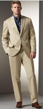Buttton Khaki Suit