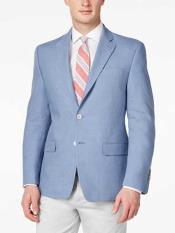 Solid 2 Button Linen For Beach Wedding outfit Light Blue Best Cheap Blazer Suit Jacket For Affordable Cheap Priced Unique Fancy For Men Available Big Sizes on sale Men Affordable Sport Coats Sale