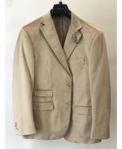 ID#DB24791 2 Button  Notch Lapel Blazer Light Brown