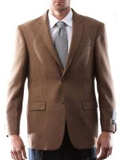 ID#DB16931 2 Button Wool Prontomoda Italia Style Light Brown Cashmere Best Cheap Blazer For Affordable Cheap Priced Unique Fancy For Men Available Big Sizes on sale Men Affordable Sport Coats Sale