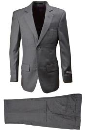 ID#DB21870 Light Gray 2 Button 5 Piece  Notch Lapel Vest kids suits available in little boys 3 three piece suit