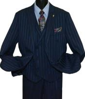 Peak Lapel Navy Blue