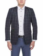 Button Notch Lapel Chalkstripe