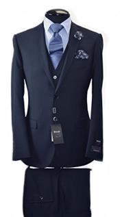 ID#VJ14828 Discounted Online Sale Luxe suits for sale Available Italian Navy 2 Button Slim Fit Vest