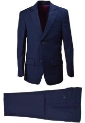 ID#DB21869 2 Button 5 Piece  Notch Lapel Vest Navy kids suits available in little boys 3 three piece suit