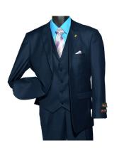 Fashion Navy Peak Lapel