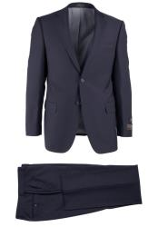 Button Navy Wool Modern