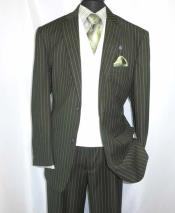 2 Button Pinstripe Double
