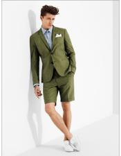 Button Dark Green Suit