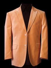 Button Single Breasted Orange