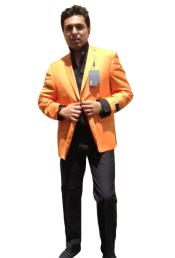 ID#6JBD Two Button Jacket Peach / Orange Best Cheap Blazer Affordable Cheap Priced Unique Fancy For Men Available Big Sizes on sale Men Affordable Sport Coats Sale