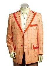 ID#JH6665 Two Button Trimmed Two Tone Sportcoat Jacket/Suit/Prom ~ Wedding Groomsmen Tuxedo Peach