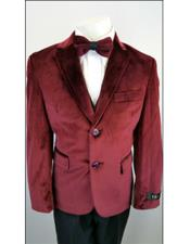 2 ButtonsVelvet Wedding Burgundy