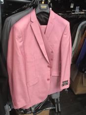 Button Pink Suit Flap