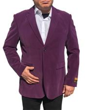 ID#DB20611  2 Button Purple Blazer Suit Jacket