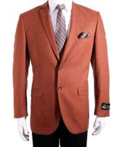 ID#NM38 Affordable Sport Coats Sale 2 Button Slim Fit Rust  Notch Collar Sport Coat Best Cheap Blazer For Affordable Cheap Priced Unique Fancy For Men Available Big Sizes on sale Men