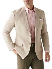 ID#NM486 Linen Cotton 2 Button Sport Coat Long Sleeves Classic Fit Sand Best Cheap Blazer For Affordable Cheap Priced Unique Fancy For Men Available Big Sizes on sale Men Affordable Sport Coats Sale