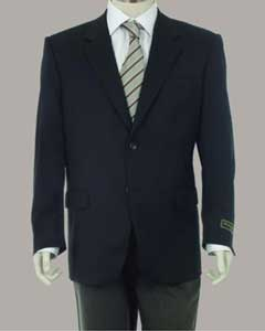 ID#PN70 Sport Coat Jacket Sportcoat Jacket Wool fabric Patterned Fabric Two Button  Dark color black