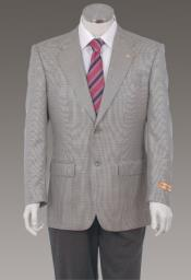ID#PN-R1 Sport Coat Jacket Sportcoat Jacket Wool fabric Patterned Fabric Two Button  Grey