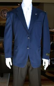 ID#PN_Y72 Sport Coat Jacket Sportcoat Jacket Wool fabric Patterned Fabric Two Button  Navy