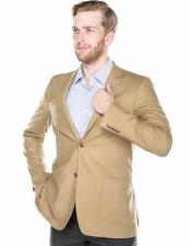 Tan 2 Button Wool