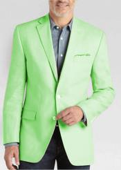 ID#DB17641 2 Button Linen For Beach Wedding outfit Classic Fit Sport Coat Apple Green Summer Best Cheap Blazer Suit Jacket For Affordable Cheap Priced Unique Fancy For Men Available Big Sizes on sale Men Affordable Sport Coats Sale