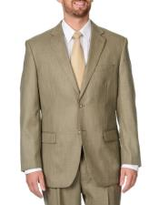 ID#DB22773  2 Button Tan Notch Lapel Double Vent Caravelli suits
