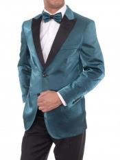 Teal 2 Button Slim