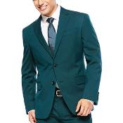 Slim Fit Mens Teal