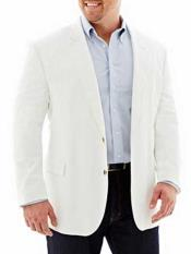 ID#NM489 Linen For Beach Wedding outfit Cotton 2 Button Long Sleeves White Sport Coat Best Cheap Blazer ~ Suit Jacket For Affordable Cheap Priced Unique Fancy For Men Available Big Sizes on sale Men Affordable Sport Coats Sale