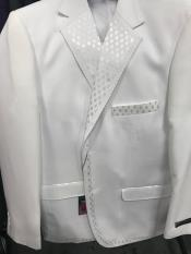 White 2 Button Vested