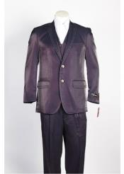ID#NM496 Mens 2 Button  Wine Suit