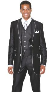 ID#TP6893 Two buttons 3 Piece  Church Inexpensive ~ Cheap ~ Discounted Clearance Sale Extra Slim Fit