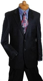 ID#VH2378 Two buttons Dark color black Tone On Tone Designer Suit Dark color black