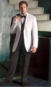 Tuxedo jacket & white