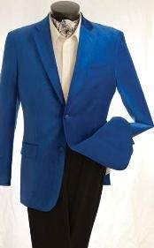 ID#QF3843 Fashion Two buttons Velvet Jacket Royal Light Blue Perfect for wedding  Best Cheap Blazer Suit Jacket For Affordable Cheap Priced Unique Fancy For Men Available Big Sizes on sale Men Affordable Sport Coats Sale