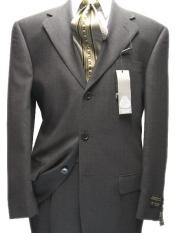 ID# M29 Dark Charcoal Masculine color Three buttons Superior 120's Wool fabric - Color: Dark Grey Suit