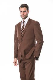 ID#VF7299 2 Piece Two buttons Superior fabric 150's Extra Coco Tone on Tone Stripe ~ Pinstripe Suit